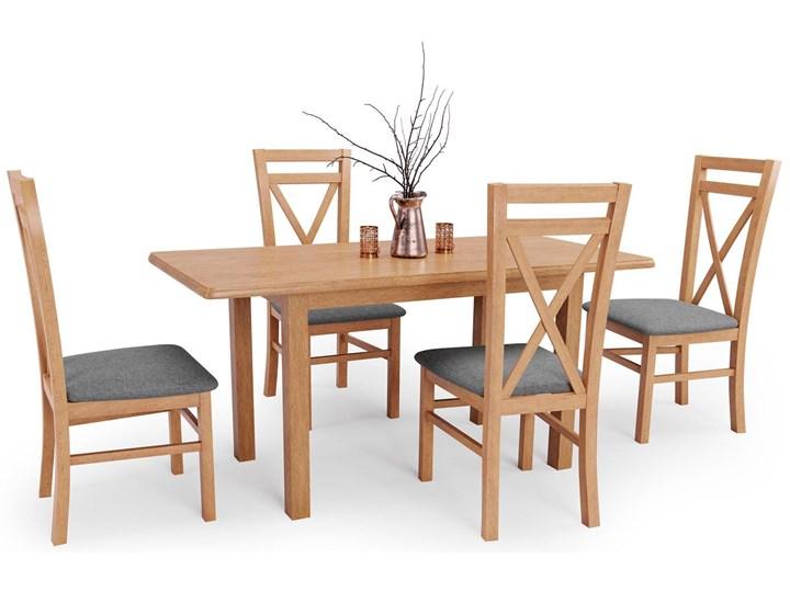 Stół rozkładany Rafael - dąb kraft Wysokość 74 cm Drewno Długość 158 cm  Szerokość 68 cm Kategoria Stoły kuchenne