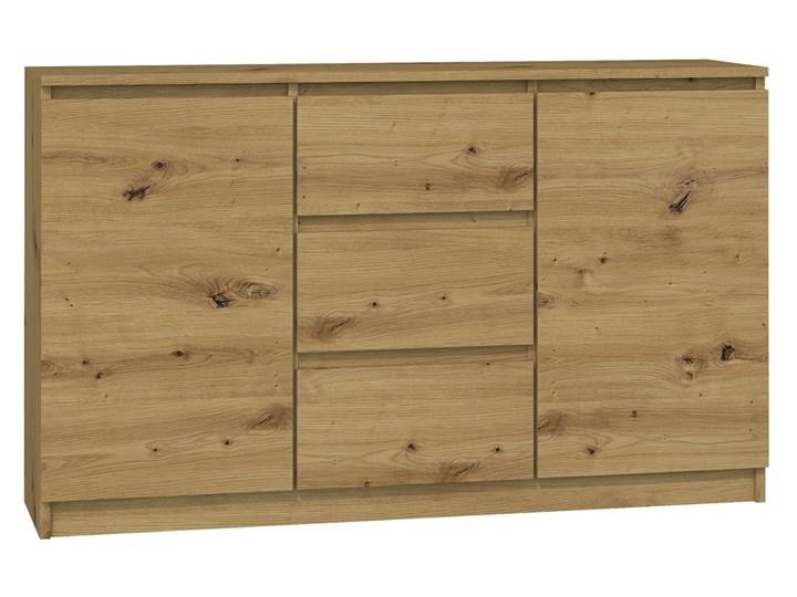 Nowoczesna komoda Rubin - dąb artisan Drewno Kolor Beżowy Z szafkami i szufladami Styl Minimalistyczny