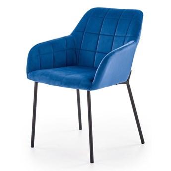 Pikowane krzesło Zeppen - granatowy