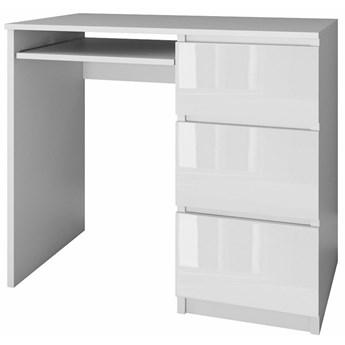 Młodzieżowe biurko prawostronne Blanco 3X - biały połysk