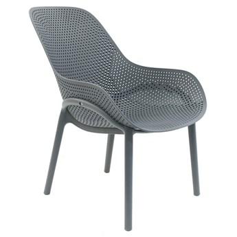 Ażurowe krzesło Vuppi - szare