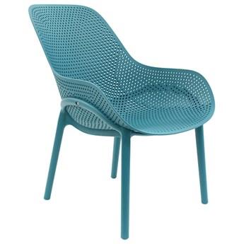Ażurowe krzesło Vuppi - niebieskie