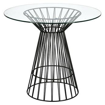 Szklany stół okrągły czarny - Sakam