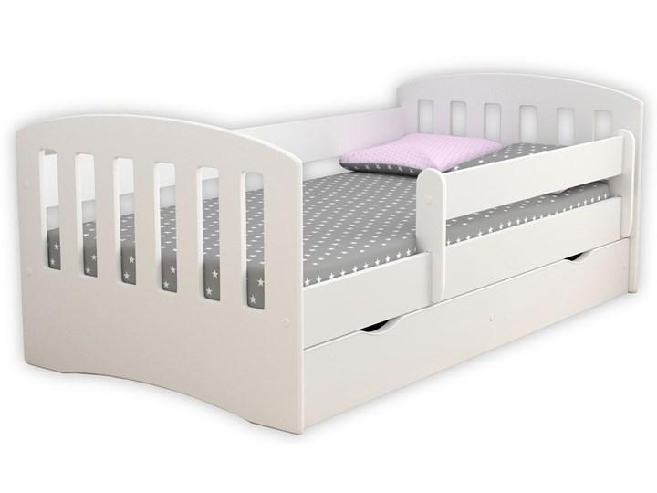 Łóżko dziecięce z materacem Pinokio 2X 80x140 - białe Kolor Biały Tradycyjne Rozmiar materaca 80x140 cm