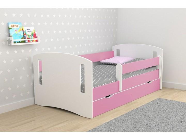 Łóżko dla dziewczynki z barierką Pinokio 3X 80x180 - różowe Drewno Płyta MDF Płyta meblowa Kategoria Łóżka dla dzieci Kolor Różowy