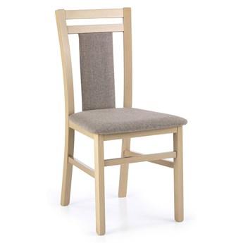 Drewniane krzesło tapicerowane Thomas - Dąb sonoma