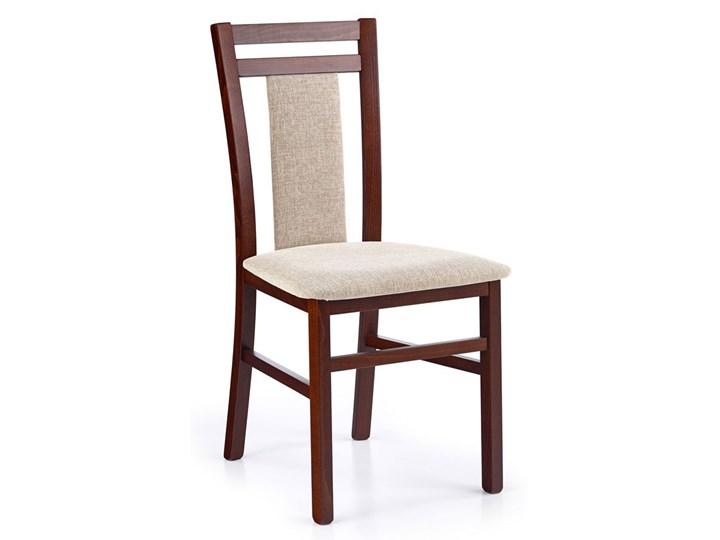 Drewniane krzesło tapicerowane Thomas - Ciemny orzech Drewno Szerokość 45 cm Tkanina Kategoria Krzesła kuchenne Wysokość 90 cm Kolor Brązowy