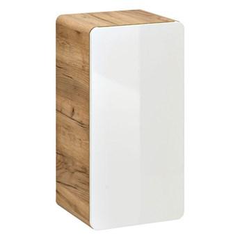 Półsłupek łazienkowy podwieszany Borneo 5X - Biały połysk