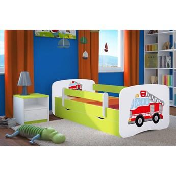 Łóżko dziecięce z szufladą Happy 2X mix 70x140 - zielone