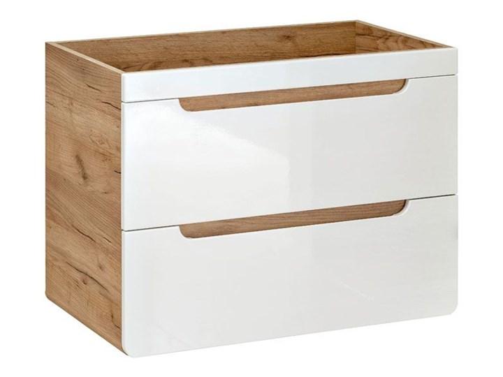 Szafka pod umywalkę Borneo 6X z szufladami 60 cm - Biały połysk Wysokość 59 cm Wiszące Kategoria Szafki stojące
