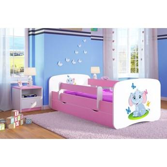 Łóżko dla dziewczynki z szufladą Happy 2X mix 80x160 - różowe