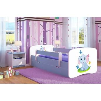 Łóżko dla chłopca z materacem Happy 2X mix 80x160 - niebieskie