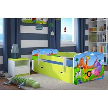 Łóżko dziecięce z materacem Happy 2X mix 80x180 - zielone