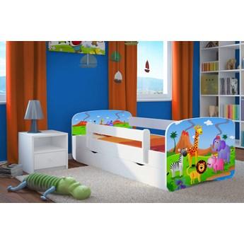 Dziecięce łóżko z szufladą Happy 2X mix 80x180 - białe