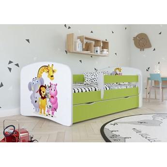 Łóżko dla dziecka z materacem Happy 2X mix 80x160 - zielone