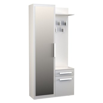 Garderoba z lustrem Kaya 2X - biała