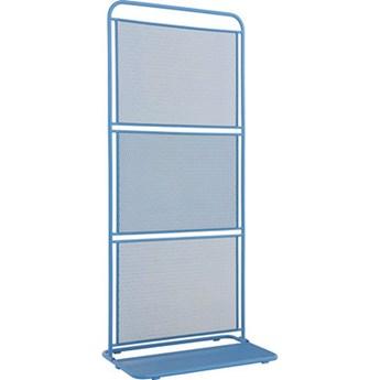 Niebieski metalowy parawan na balkon ADDU MWH, 180x80 cm