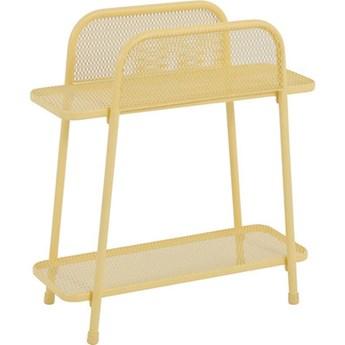 Żółty metalowy stolik na balkon ADDU MWH, wys. 70 cm