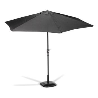 Czarny parasol ogrodowy bez podstawy Le Bonom Sun, ø 300 cm