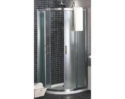Kabina prysznicowa półokrągła GEO 6 80cm szkło hart PRISMATIC profil srebrny poł. część 1/2 Koło_DARMOWA DOSTAWA !!!