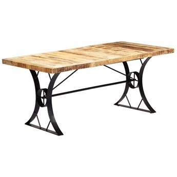 Jasnobrązowy stół z drewna mango – Kanis