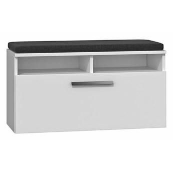 Biała szafka na obuwie - schowek i siedzisko - Vopra