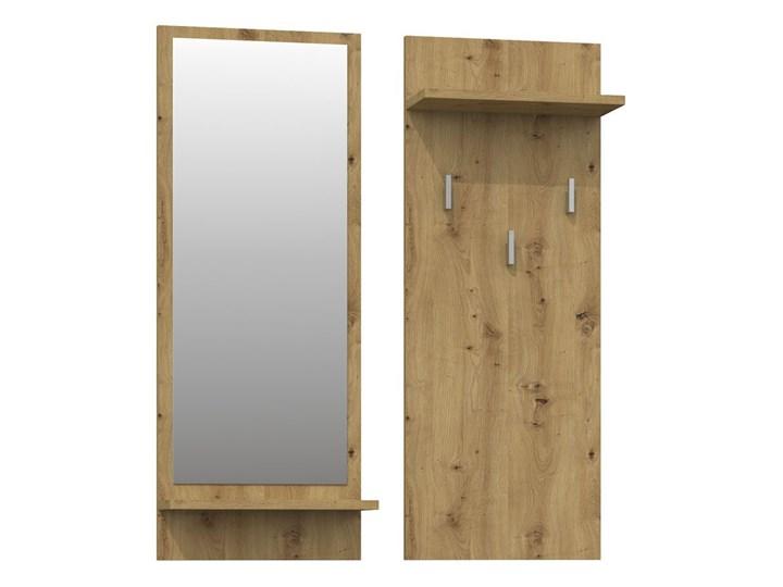 Wieszak z lustrem Donel - dąb artisan Kategoria Zestawy mebli do sypialni Kolor Brązowy