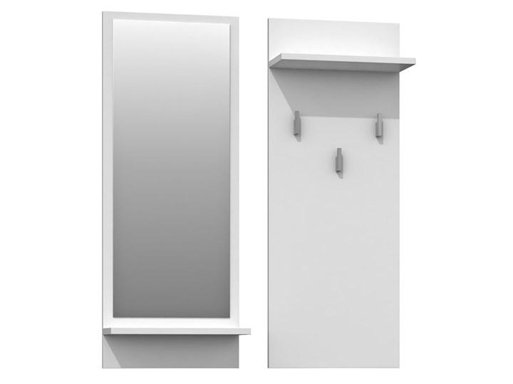 Komplet wieszak i lustro Donel - biały