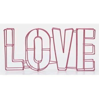 Sinsay - Dekoracyjny napis love - Różowy