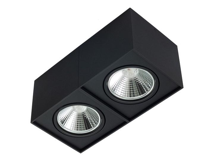 Podwójna oprawa natynkowa ruchoma na sufit ES AR111 2x GU10 czarny mat Oprawa halogenowa Oprawa stropowa Prostokątne Oprawa ruchoma Kategoria Oprawy oświetleniowe
