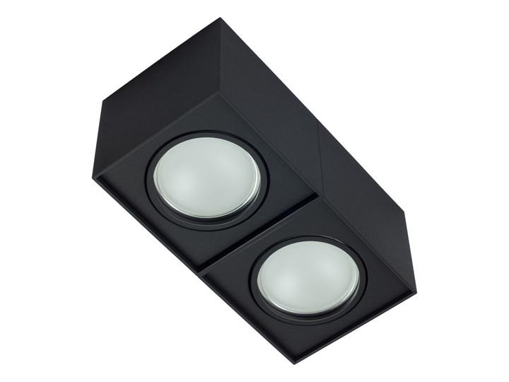 Podwójna oprawa natynkowa ruchoma na sufit ES AR111 2x GU10 czarny mat Oprawa halogenowa Prostokątne Oprawa stropowa Oprawa ruchoma Kategoria Oprawy oświetleniowe
