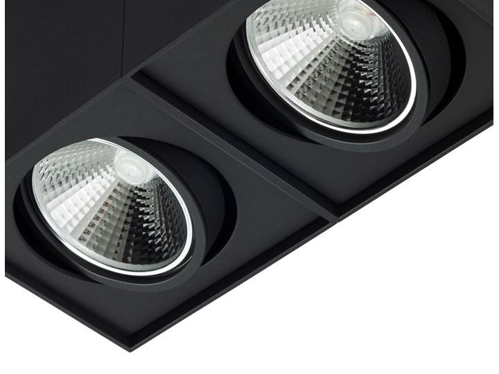 Podwójna oprawa natynkowa ruchoma na sufit ES AR111 2x GU10 czarny mat Oprawa ruchoma Oprawa stropowa Prostokątne Oprawa halogenowa Kategoria Oprawy oświetleniowe