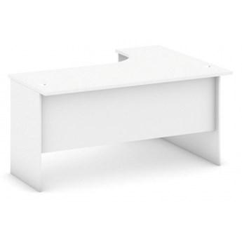 Biurko ergonomiczne lewe, biały