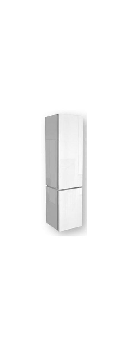 Słupek łazienkowy Varius 365x1522x362cm Z Koszem Na Bieliznę Biały Połysk 88116000 Koło