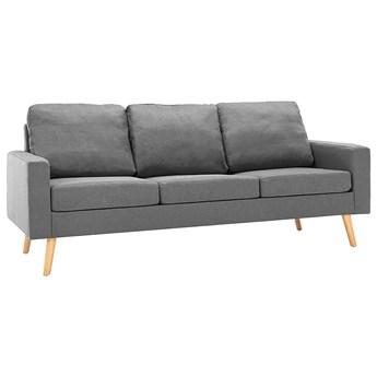 3-osobowa jasnoszara sofa - Eroa 3Q