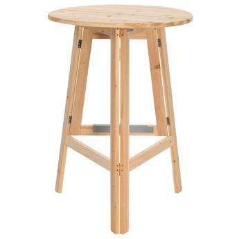 Składany okrągły stolik z drewna jodłowego – Keller