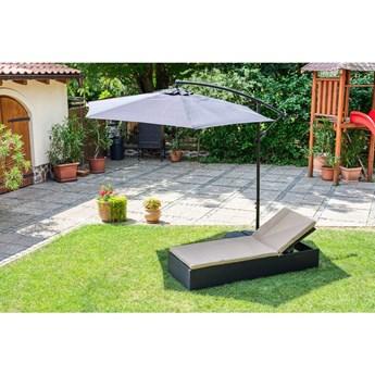 Czarny parasol ogrodowy bez podstawy Le Bonom Happy Sun, ø 300 cm