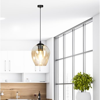 ISTAR 1 BL MIODOWA 677/1 lampa wisząca żyrandol nowoczesny szklane klosze NOWOŚĆ