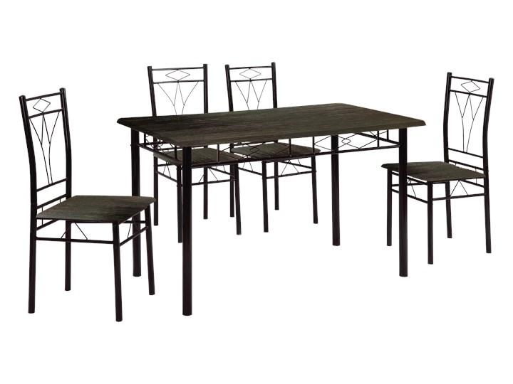 HOME DECOR ZESTAW DO JADALNI SOFI CZARNY STÓŁ PROSTOKĄTNY 110x60 4 KRZESŁA Kategoria Stoły z krzesłami