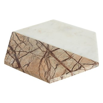 Biało-beżowa marmurowa taca Premier Housewares Marble