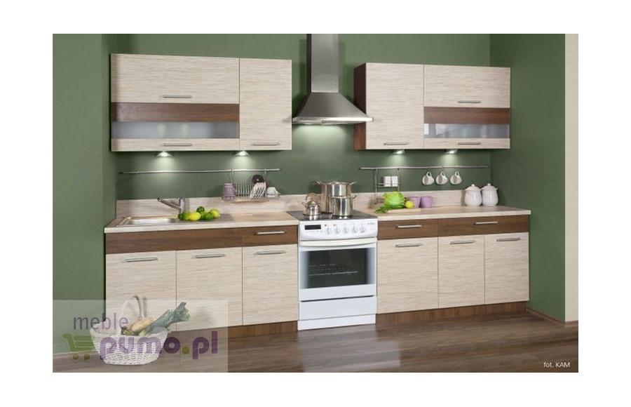 Zestaw kuchenny KAMDUO 260 bez blatów  trawa orzech  Zestawy mebli kuchenny   -> Meble Forte Kuchnia Primo