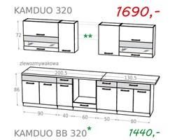 Zestaw kuchenny KAMDUO 320 bez blatów - sonoma / lawa