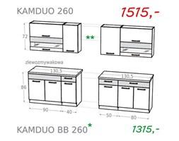 Zestaw kuchenny KAMDUO 260 bez blatów- grusza / orzech