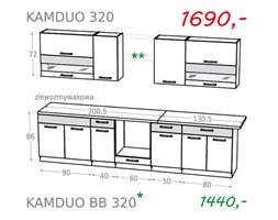 Zestaw kuchenny KAMDUO 320 bez blatów- grusza/orzech