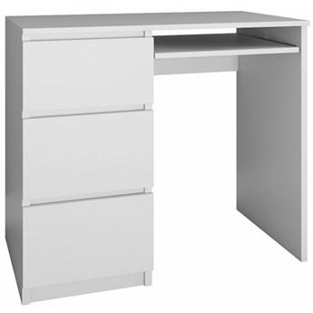 Młodzieżowe biurko lewostronne Blanco 2X - biały mat