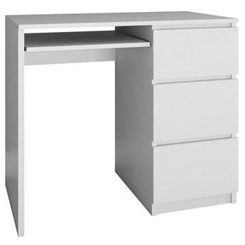 Młodzieżowe biurko prawostronne Blanco 2X - biały mat