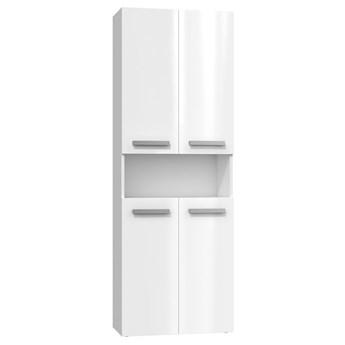 Szafka łazienkowa Malmo 2X - biały połysk