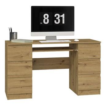 Biurko komputerowe Liner 2X - dąb artisan