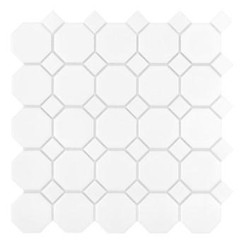 Mini Octagon White 55 29,5x29,5 matt mozaika gresowa