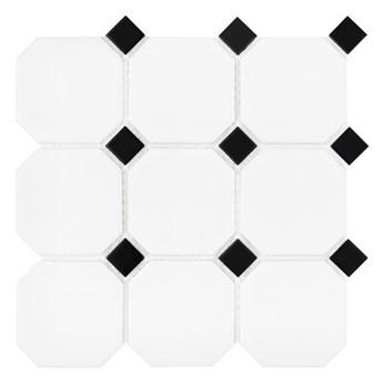Octagon White 95 30,1x30,1 matt mozaika gresowa